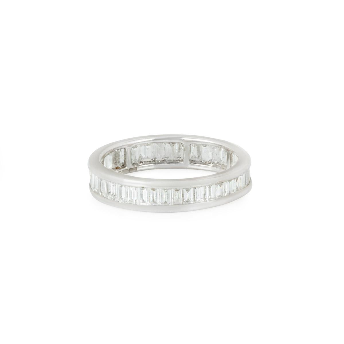 White Gold Baguette Cut Diamond Eternity Ring